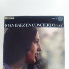 Discos de vinilo: JOAN BAEZ EN CONCIERTO VOL 2 ( 1967 HISPAVOX ESPAÑA ) FOLK ROCK BOB DYLAN COVERS ETC. Lote 116852931
