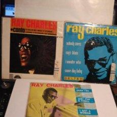 Discos de vinilo: RAY CHARLES, TRÍO DE EPS MUY ESPECIALES . EDICIÓN ESPAÑOLA. Lote 116890167
