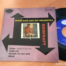 Discos de vinilo: BUDDY RICH RICHCRAFT (CHEROKEE +3) EP ESPAÑA 1960 (EPI10). Lote 116928391