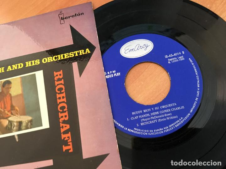 Discos de vinilo: BUDDY RICH RICHCRAFT (CHEROKEE +3) EP ESPAÑA 1960 (EPI10) - Foto 2 - 116928391