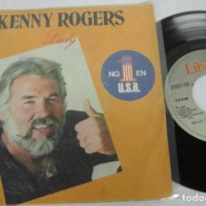 Disques de vinyle: KENNY ROGERS - LADY + SWEET MUSIC MAN - SINGLE - LIBERTY 1980 SPAIN. Lote 116932991