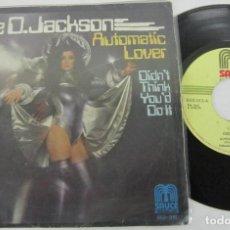 Discos de vinilo: DEE D. JACKSON - AUTOMATIC LOVER - SINGLE - SAUCE 1978 SPAIN. Lote 116934227