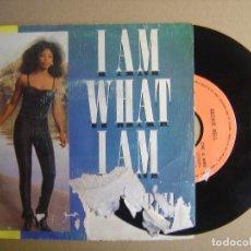 Discos de vinilo: BECKIE BELL - I AM WHAT I AM + NIGHT TRAIN TO TASMANIA - SINGLE ESPAÑOL 1983 - CARRERE. Lote 116935127