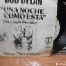 Discos de vinilo: BOB DYLAN UNA NOCHE COMO ESTA + 1 SINGLE SPAIN 1974 PDELUXE. Lote 116997091