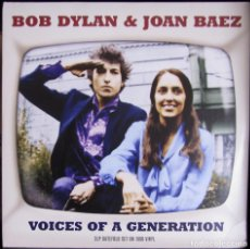 Discos de vinilo: BOB DYLAN JOAN BAEZ, VOICES OF A GENERATION. 2 LP GATEFOLD, 2013. FUNDA Y DISCO EX-NM. Lote 117044699