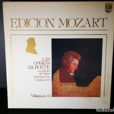 Discos de vinilo: MOZART - LAS OPERAS DA PONTE VOLUMEN 12 - BOX 12 LP NEAR MINT. Lote 117045147
