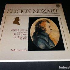 Discos de vinilo: EDICION MOZART -LA CLEMENCIA DE TITO - VOLUMEN 13 - OPERA COMPLETA CON LIBRETO - BOX - LP NEAR MIN. Lote 117045595
