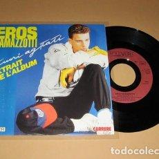 Discos de vinilo: EROS RAMAZZOTTI - CUORI AGITATI - SINGLE - 1985. Lote 117073015
