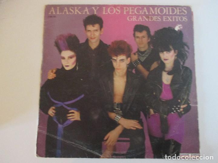 SOLO CARPETA Y ENCARTE SIN DISCO ALASKA Y LOS PEGAMOIDES GRANDES ÉXITOS HISPAVOX 1982 (Música - Discos - LP Vinilo - Grupos Españoles de los 70 y 80)