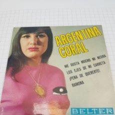 Discos de vinilo: ARGENTINA CORAL - ME GUSTA MUCHO MI NEGRA. Lote 117107226
