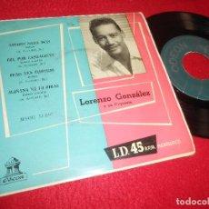 Discos de vinilo: LORENZO GONZALEZ AMIGOS NADA MAS/FUE POR CASUALIDAD/+2 EP 7'' 196? ODEON EDICION ESPAÑOLA SPAIN. Lote 117108495