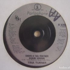 Discos de vinilo: TINA TURNER - WHY MUST WE WAIT UNTIL TONIGHT + SHAKE A TAIL FEATHER - SINGLE 1993 - PARLOPHONE. Lote 117110943
