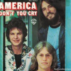 Disques de vinyle: AMERICA - DON'T YOU CRY / SHE'S GONE (SINGLE PROMO ESPAÑOL, WB 1977). Lote 117114587