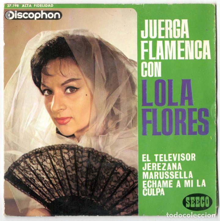 LOLA FLORES - JUERGA FLAMENCA - DISCOPHON / SEECO 1963 (Música - Discos de Vinilo - EPs - Flamenco, Canción española y Cuplé)