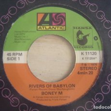 Discos de vinilo: BONEY M - RIVERS OF BABYLON + BROWN GIRL IN THE RING - SINGLE 1978 - ATLANTIC. Lote 117127115
