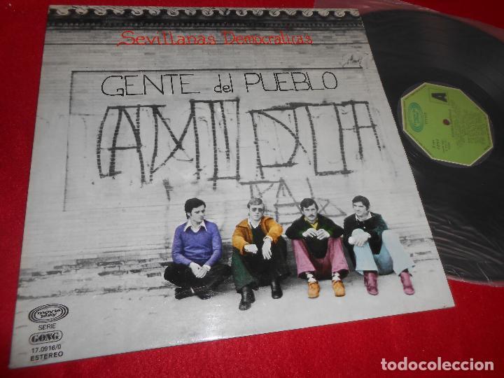 GENTE DEL PUEBLO SEVILLANAS DEMOCRATICAS LP 1977 MOVIEPLAY GATEFOLD EDICION ESPAÑOLA SPAIN (Música - Discos - LP Vinilo - Flamenco, Canción española y Cuplé)