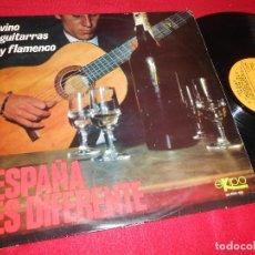 Discos de vinilo: ESPAÑA ES DIFERENTE VINO GUITARRAS Y FLAMENCO LP 1966 EKIPO ALFONSO LABRADOR SPAIN MARUJA BIENVENIDA. Lote 117131347