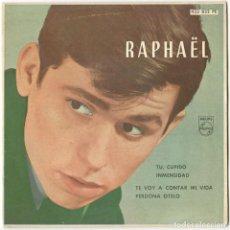 Discos de vinil: RAPHAEL - TU, CUPIDO / INMENSIDAD / TE VOY A CONTAR MI VIDA / PERDONA OTELO - PHILIPS 1962. Lote 117196063