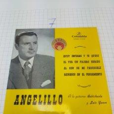 Discos de vinilo: ANGELILLO (EP) ESTOY ENFERMO Y TE QUIERO AÑO 1959. Lote 117197210