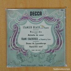 Discos de vinilo: STANLEY BLACK, FRANK CHACKSFIELD - RECUERDO + 3 - EP. Lote 117201599