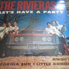 Discos de vinilo: THE RIVIERAS - LET´S HAVE A PARTY LP - ORIGINAL U.S.A. - U.S.A RECORDS 1964 - MONOAURAL -. Lote 117204631