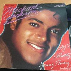 Discos de vinilo: MICHAEL JACKSON (PRETTY YOUNG THING) MAXI SINGLE ESPAÑA 1984 (VIN-X). Lote 117234163