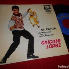 Discos de vinilo: CHICOTE LOPEZ EL PATITO/SEÑORITA AMOR/TODO PASA/PRIMA PRIMAVERA EP 1964 ODEON ESPAÑA SPAIN. Lote 117279695
