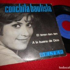 Discos de vinilo: CONCHITA BAUTISTA EL TEREN TEN TEN/A LA BUENA DE DIOS 7 SINGLE 1966 BELTER. Lote 117281387