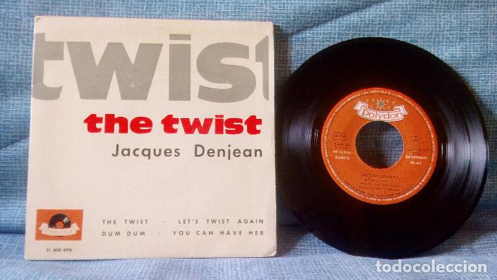 JACQUES DENJEAN - THE TWIST / LET'S TWIST AGAIN / DUM DUM / YOU CAN HAVE HER - AÑO 1962 (Música - Discos de Vinilo - EPs - Canción Francesa e Italiana)