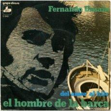 Discos de vinilo: FERNANDO UNSAIN - EL HOMBRE DE LA BARCA - SG SPAIN 1974 - DIM/MH D-942. Lote 117293263
