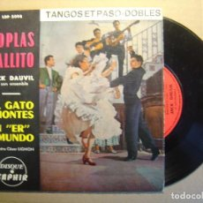 Discos de vinilo: JACK DAUVIL - TANGOS ET PASO DOBLES - SINGLE FRANCES - VEGA. Lote 117299127
