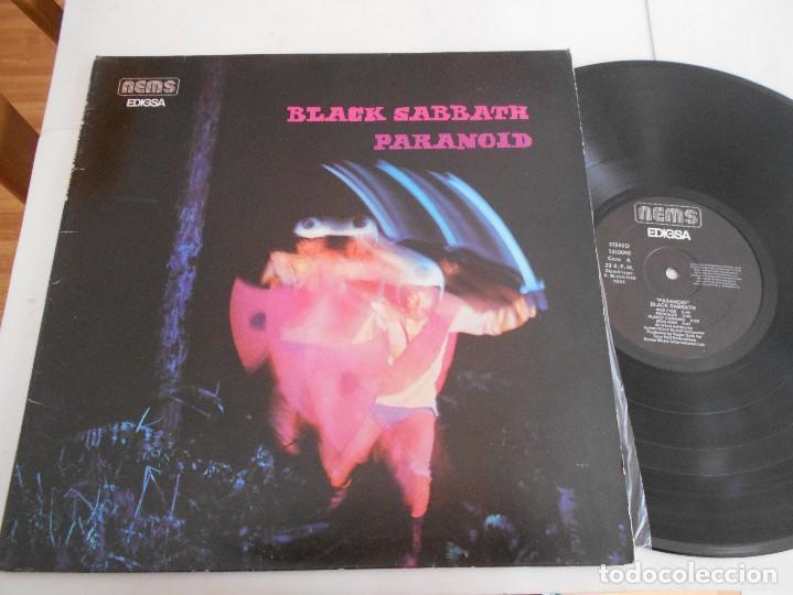 BLACK SABBATH-LP PARANOID-PORT.ABIERTA-ESPAÑOL 1980 (Música - Discos - LP Vinilo - Heavy - Metal)