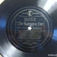 Discos de vinilo: THE BAROQUE ERA - THE STORY OF GREAT MUSIC - SINGLE FLEXIBLE HOLANDES - TIME-LIFE. Lote 117313507