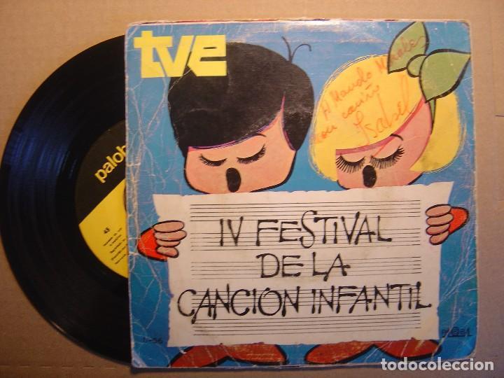 Discos de vinilo: ISABEL - Fantasmas a go-go + la rueda - IV FESTIVAL DE LA CANCION INF. CON DEDICATORIA - Foto 2 - 117317543