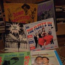Discos de vinilo: 6 MARAVILLOSOS LP HOLLYWOOD CLASICO ( FRED ASTAIRE, CARMEN MIRANDA, JUDY GARLAND, ELEANOR POWELL ETC. Lote 117320923