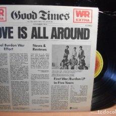 Discos de vinilo: WAR + ERIC BURDON LOVE IS ALL AROUND LP SPAIN 1977 PEPETO TOP . Lote 117324303
