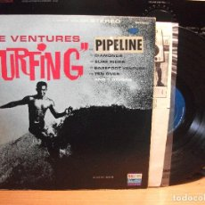 Discos de vinilo: THE VENTURES SURFING LP USA 1963 PEPETO TOP . Lote 117325451