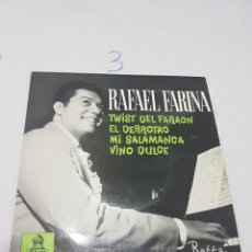 Discos de vinilo: RAFAEL FARINA - TWIST DEL FARAÓN - 1962. Lote 117327176