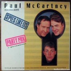 Discos de vinilo: PAUL MCCARTNEY - SPIES LIKE US / MY CARNIVAL - MIX - BANDAS SONORA - 1985 - PROMOCIONAL, BEATLES. Lote 117371159