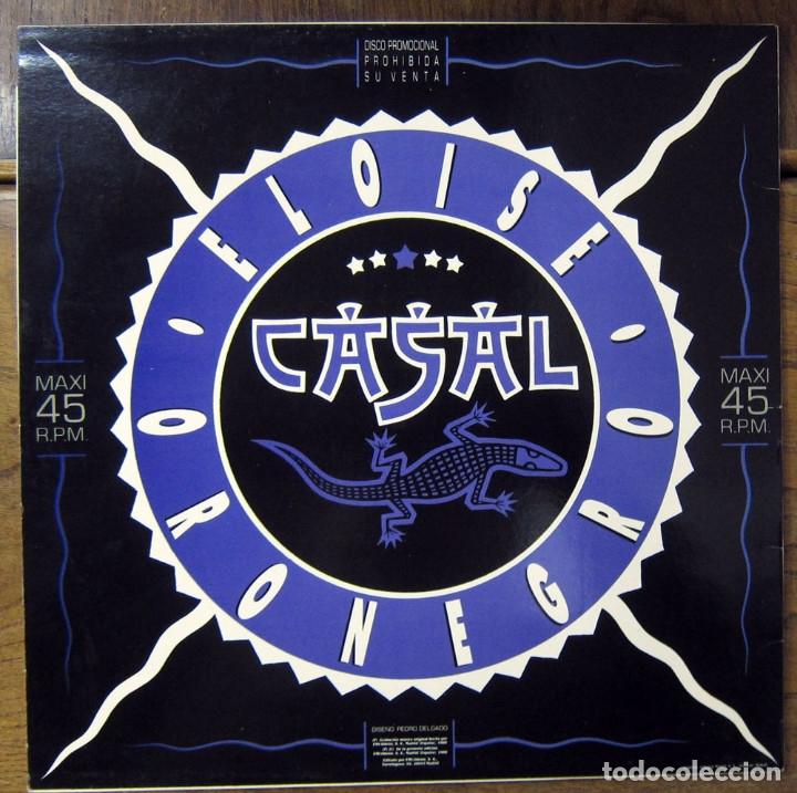 Discos de vinilo: TINO CASAL - ORO NEGRO / ELOISE - VERSION MAXI - PROMOCIONAL, 1988 - Foto 2 - 117371811