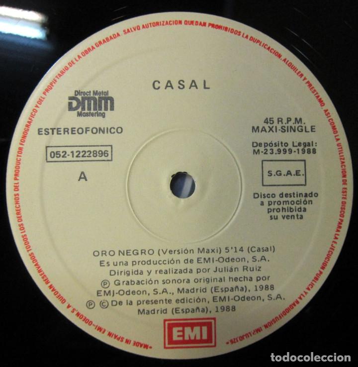 Discos de vinilo: TINO CASAL - ORO NEGRO / ELOISE - VERSION MAXI - PROMOCIONAL, 1988 - Foto 4 - 117371811