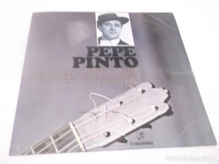 PEPE PINTO EP COLUMBIA 1962 FANDANGOS TOMASEROS/ RECUERDO DE SENTIMIENTO/ A MI NADIE ME DA UN BESO+1 (Música - Discos de Vinilo - EPs - Flamenco, Canción española y Cuplé)