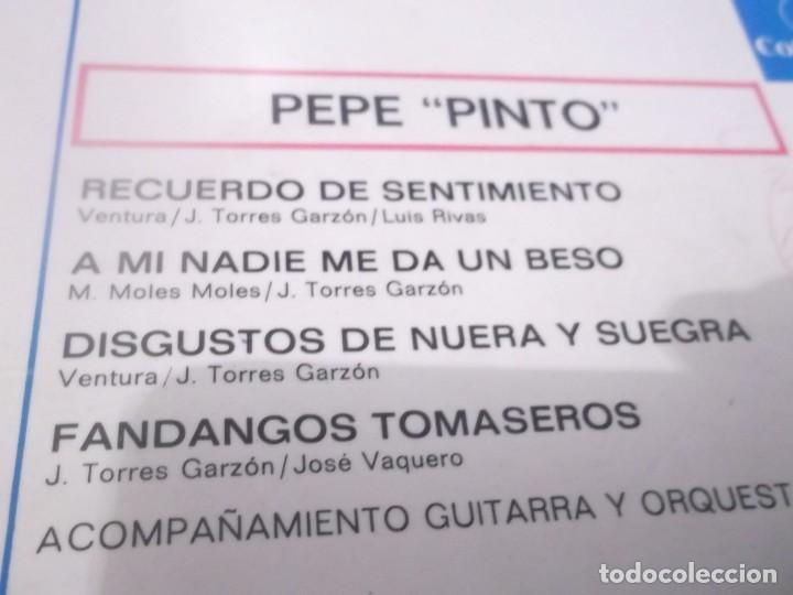Discos de vinilo: PEPE PINTO EP COLUMBIA 1962 fandangos tomaseros/ recuerdo de sentimiento/ a mi nadie me da un beso+1 - Foto 2 - 117372883
