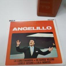 Discos de vinilo: ANGELILLO EP RCA 1970 LA LUNA ENAMORA/ MI BARCO VELERO/ LERELE GITANO/ LOLA MONTES. Lote 117375108