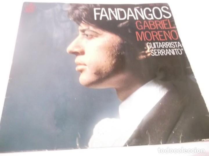 EP FLAMENCO : GABRIEL MORENO & SERRANITO : FANDANGOS (Música - Discos de Vinilo - EPs - Flamenco, Canción española y Cuplé)