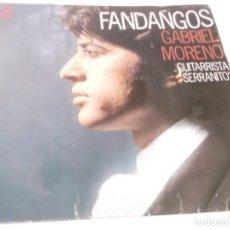 Discos de vinilo: EP FLAMENCO : GABRIEL MORENO & SERRANITO : FANDANGOS . Lote 117375271