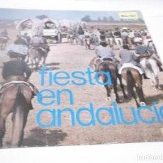 Discos de vinilo: LOS CHOQUEROS - FIESTA EN ANDALUCÍA - LP MARFER [MANOLO SANLUCAR, FÉLIX DE UTRERA, GARCÍA TEJERO... Lote 117382591