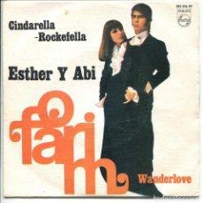 Discos de vinilo: ESTHER Y ABI OFARIM / CINDARELLA ROCKEFELLA / WANDERLOVE (SINGLE 1968). Lote 117414555