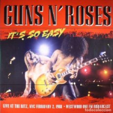 Discos de vinilo: GUNS N´ROSES -ITS SO EASY: LIVE AT THE RITZ (1988 FM BROADCAST). Lote 117422323