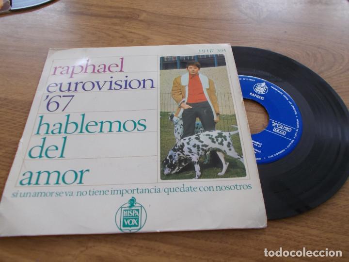 RAPHAEL. EUROVISION 67, HABLEMOS DEL AMOR. (Música - Discos de Vinilo - EPs - Festival de Eurovisión)